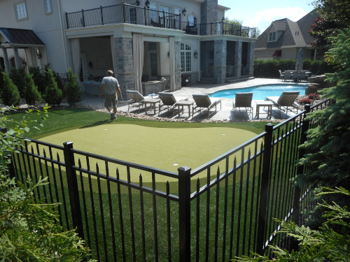 artificial grass pool surrounds
